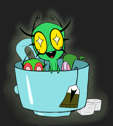 Smeets in a cup by Glitched-Irken