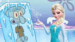 Squidward Frozen by Elsa by MultiShadowYoshi