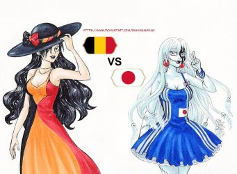 Belgium VS Japan by ShahanaMikagi