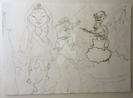 sketch - Monkey: Journey to the west by 2D-Dipper