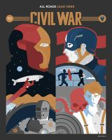 Civil War: All Roads Lead Here by Jurassickevin