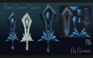 Hand Painted - Crystal Sword by RosmanPL