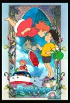 Ponyo on the Cliff by the Sea by jdesigns79