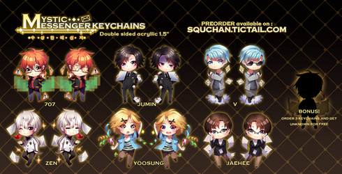 Mystic Messenger Keychains by SquChan