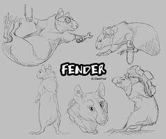 Fender sketches by DawnFrost