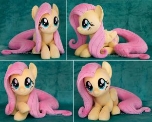 Laying Fluttershy Plush by ButtercupBabyPPG