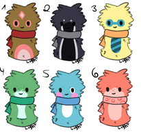 Scarfblob Adopts #1 | Open by Fenwa-Adopts