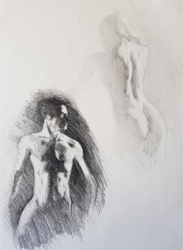 Charcoal vs Pencil by Ares777