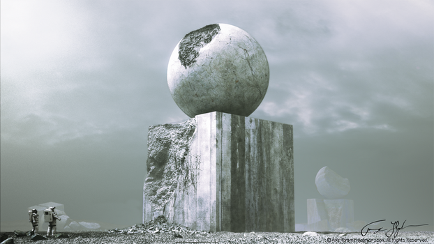 Sphere On Cube by zombiwoof