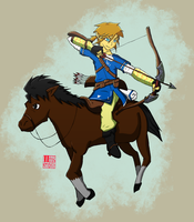 Link and Epona hunting by yishn