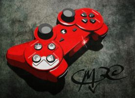 PS3 Controller Stencil Mock-up by JMarFtAtkinson