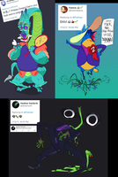 Twitter Monsters by Psshaw