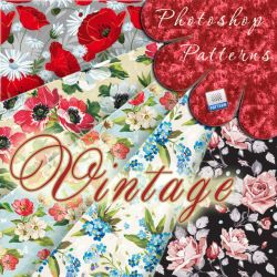 Vintage Floral Patterns by flashtuchka