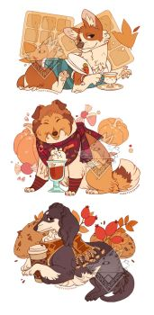 Autumn Dogs by morteraphan