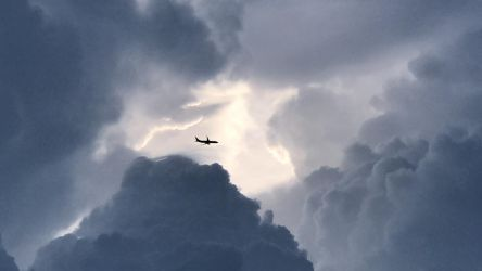 Cloud Cavern with Plane by ManhattonOctoberfest