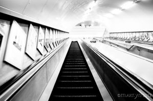 Escalator by inkywinkypinky