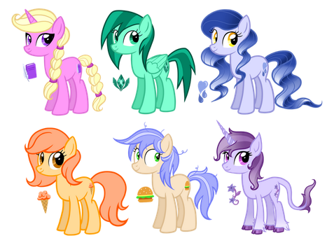 OC Redesigns by TheCheeseburger