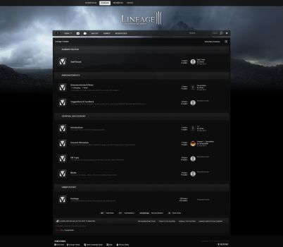 Lineage 3 Forum Design by xDrac