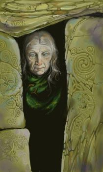 Woman with a Celtic Stone by ickessler