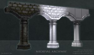 Medieval Archway Construction by 9thKnight