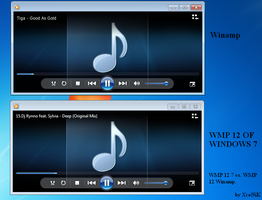 WMP 12 Winamp vs. WMP 12 of 7 by XceNiK