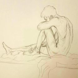 Guy from Life Drawing by MuddyMink