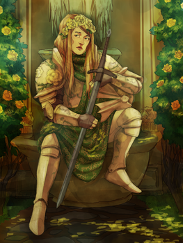 The Yellow Rose Knight by TheCowsMoo
