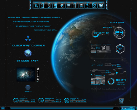 Blue Planet for Rainmeter by qubes