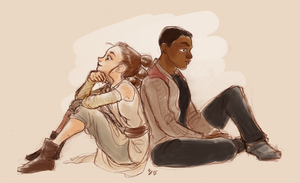 Rey and Finn by Tell-Me-Lies