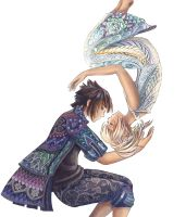 Noctis and Lunafreya Coloured by aestrild