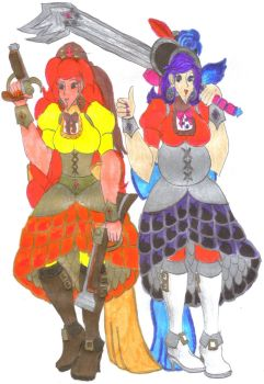 Fiery Pirate Ladies for DBCDude01 by Winter-Colorful