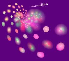 spiral of candies (purple) by duf20