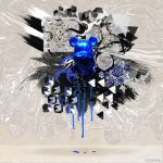 Bearbrick Blue abstract by xavierlokollo
