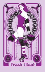 Roller Derby Girl by Skele-kitty