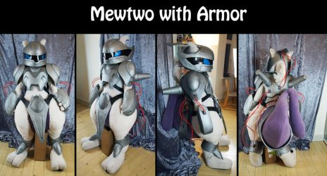 Mewtwo with armor cosplay by Maria-M--aka--Bakura