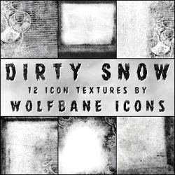 Dirty Snow Icon Textures by jordannamorgan
