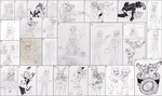 Commission Sketch Compilation for ~AstraAurora~ by Darkest-of-Days