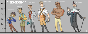 DIG - Character Lineup by AymsterSilver