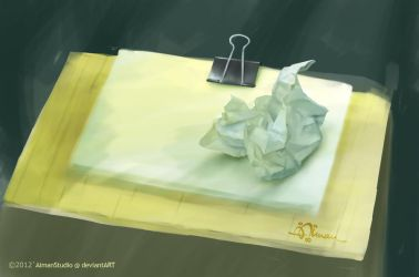 Painting from Nature:  Crumpled Paper by AimanStudio