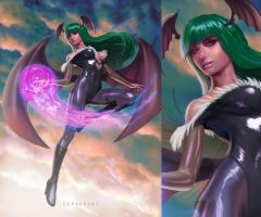 Morrigan Aensland-fanart by leee666jack