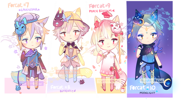 [CLOSED] SET PRICE Adopts: Forcats 7-10 by ToasterKiwi
