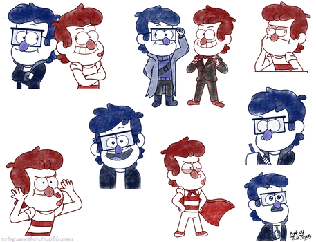 Lil' Stan twins doodle by ArtsyMeeShee