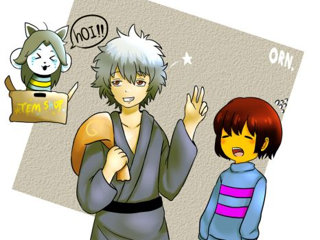 Gintoki and frisk Undertale by Mahdmi