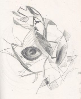 Eyeball sketch by funkypurple