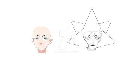[MMD] WHITE DIAMOND - WIP 3 (Head Comparison) by DollyMolly323