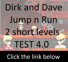 Browsergame. Dirk n Dave. Jump n Run. by Timeless-Knight