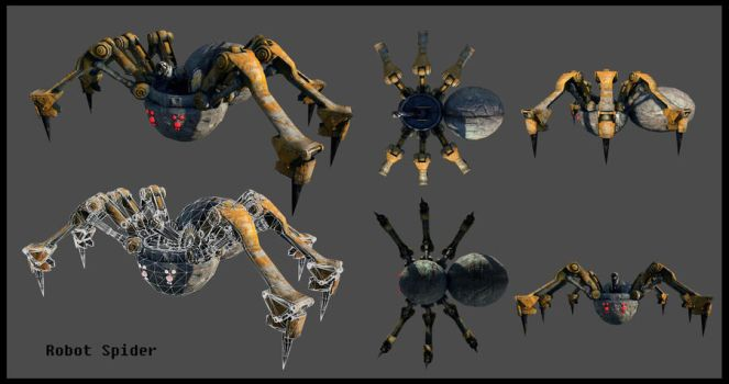 Mechanical Spider Robot by Akiratang