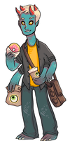 Coffee Monster by lover-bot
