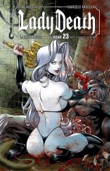 LADY DEATH 23 messy cover COLORS by PowRodrix