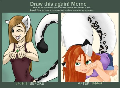 Draw this again! Meme Snow leopard by bookxworm89
